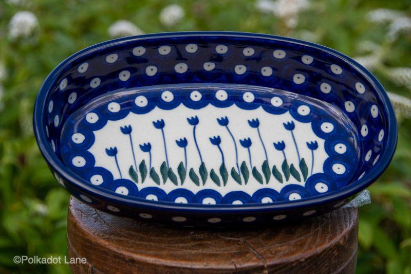 Flower Spots Small Serving Dish by Ceramika Artystyczna