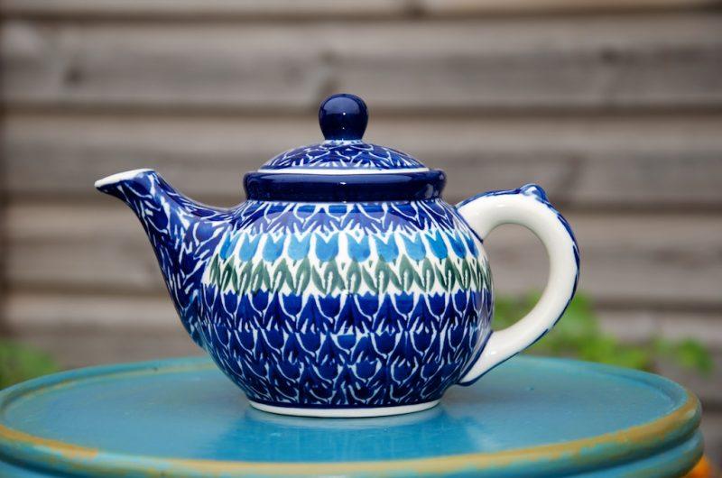 Polish Pottery Tulip Field Small Teapot