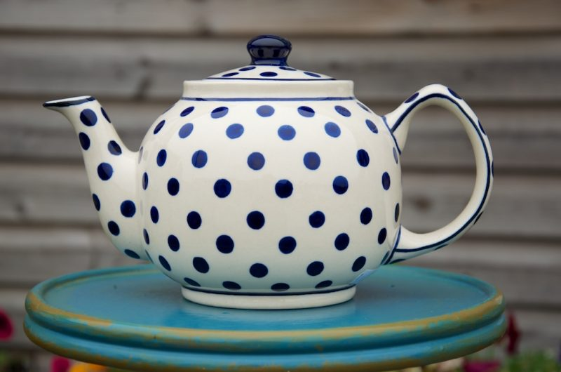 Polish Pottery Light Spot Teapot