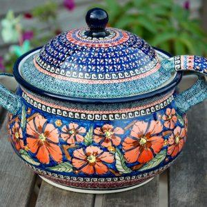 Polish Pottery Poppy Tureen Ladle