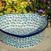 Polish Pottery Blue Berry Leaf Heart Shaped Dish from Polkadot Lane UK