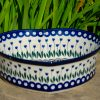 Ceramika Artystyczna Flower Spot Heart Dish from Polkadot Lane UK