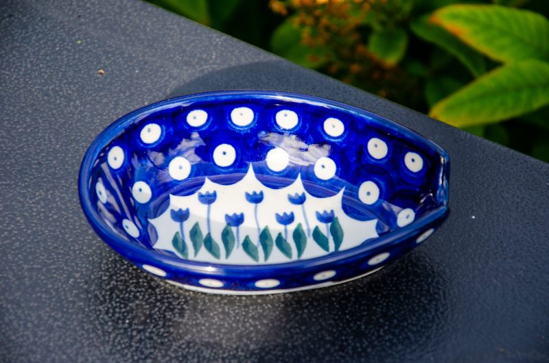 Flower Spot Spoon Rest by Ceramika Artystyczna Polish Pottery