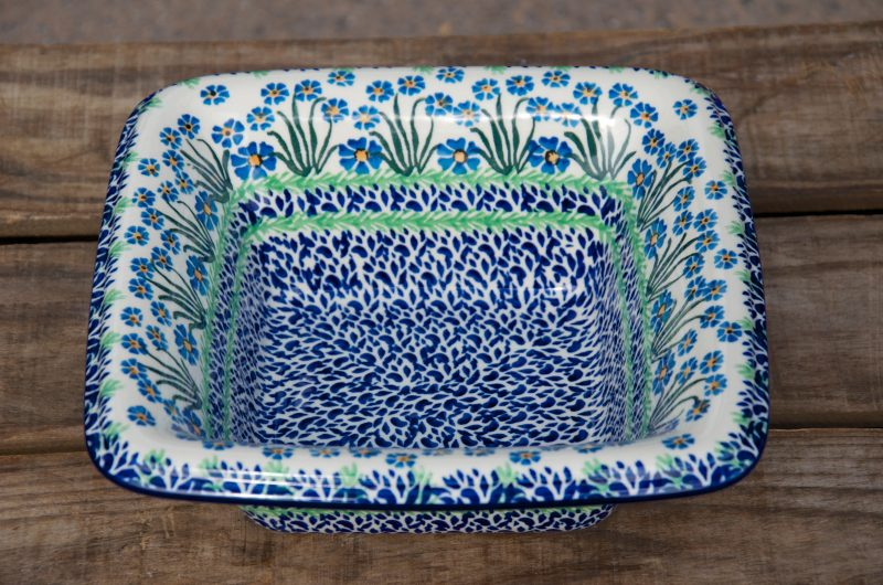 Forget Me Not large Serving Dish by Ceramika Artystyczna
