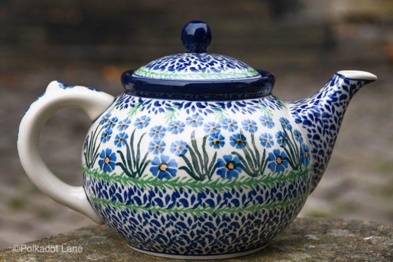 Forget Me Not Teapot for Four Persons by Ceramika Artystyczna