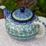 Forget Me Not Teapot for Four People by Ceramika Artystyczna