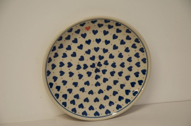 Polish pottery Small Heart Pattern Side Plate