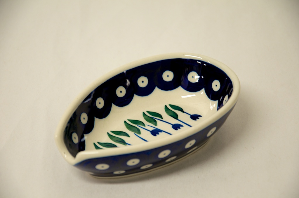 Polish Pottery Flower Spot Spoon rest