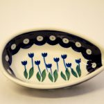 Polish Pottery Spoon Rest Flower Spot