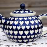 Polish Pottery Hearts Pattern Teapot from Polkadot Lane UK
