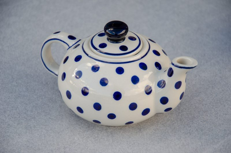Polish Pottery Light Spot Small Teapot by Ceramika Zaklady