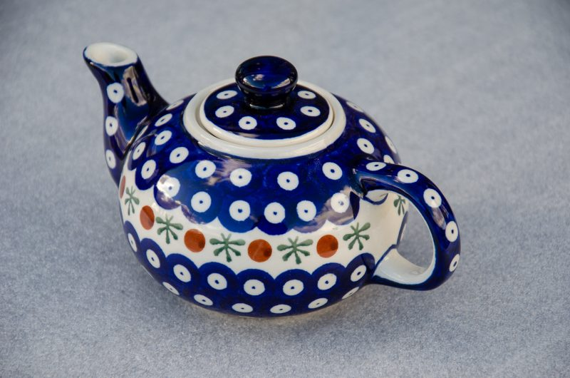 Polish Pottery Fern Spot Small Teapot