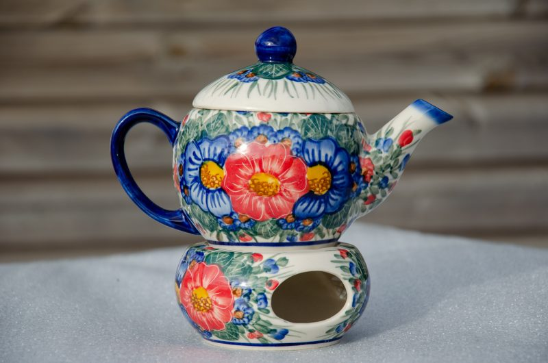 Andy Ceramika Small Teapot and Warmer with insert for leaf tea.
