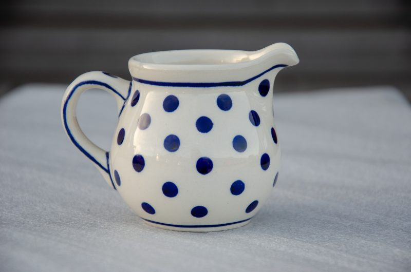 Polish Pottery Light Spot Creamer