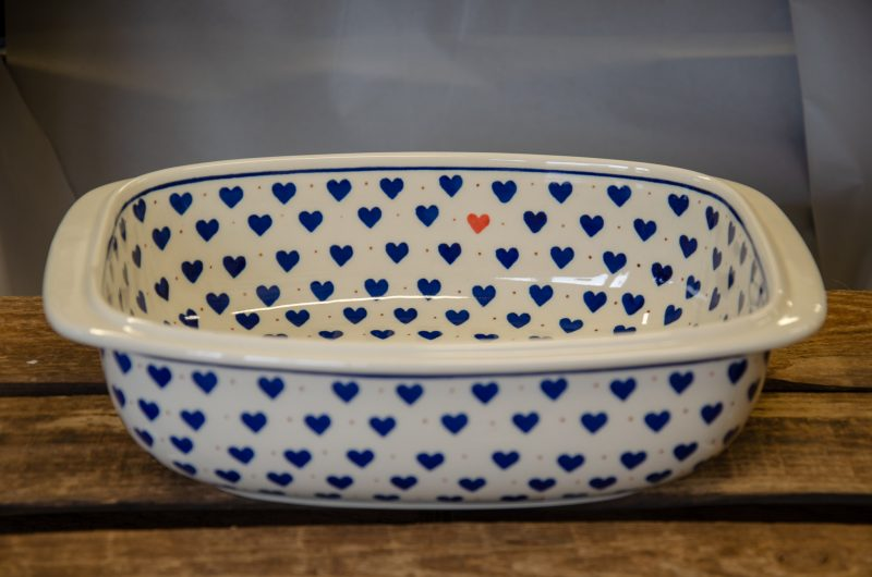 Polish Stoneware Pottery Large Deep Oven Dish by Ceramika Artystyczna