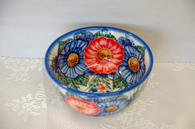 Polish Pottery Andy Large Flower Pattern Bowl
