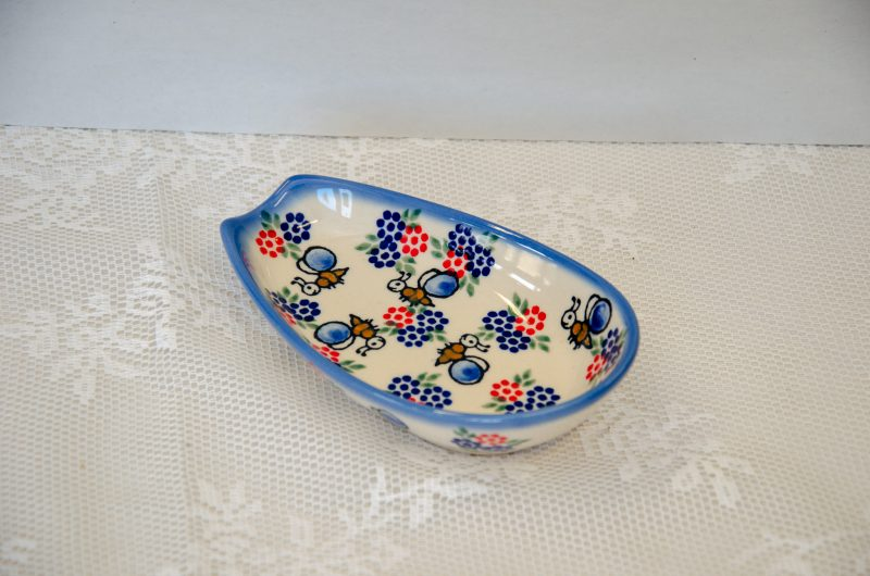 Polish Pottery Andy Bee Pattern Spoon Rest
