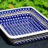 Fern Spot Large Oven Dish by Ceramika Manufaktura Polish Pottery