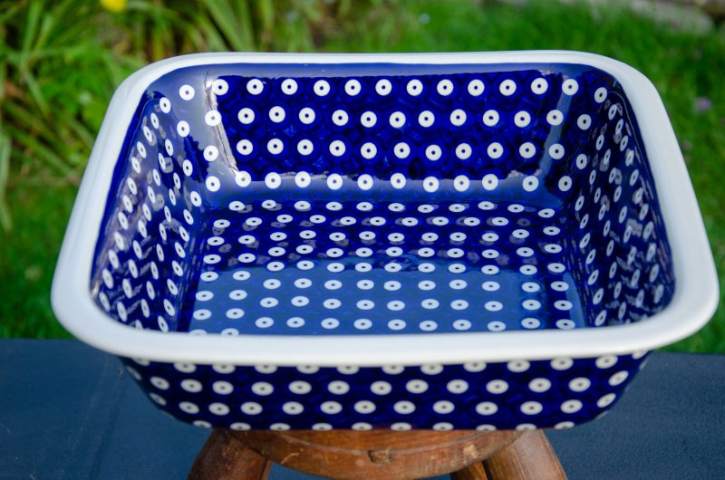 Oven Baking Dish Dark Blue Spot