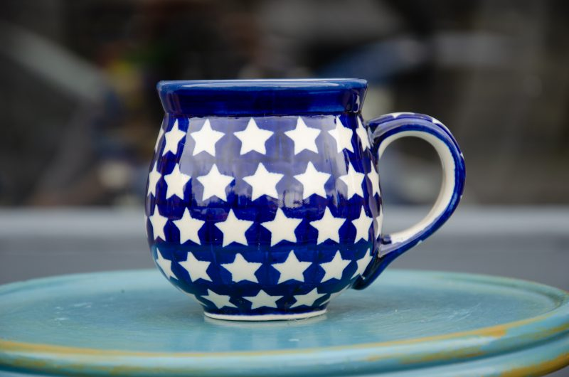 White Star Mug medium Sized by Ceramika Manufaktura