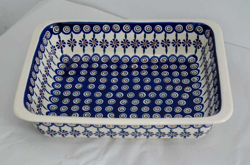 Large Oven Baking Dish Peacock Flower