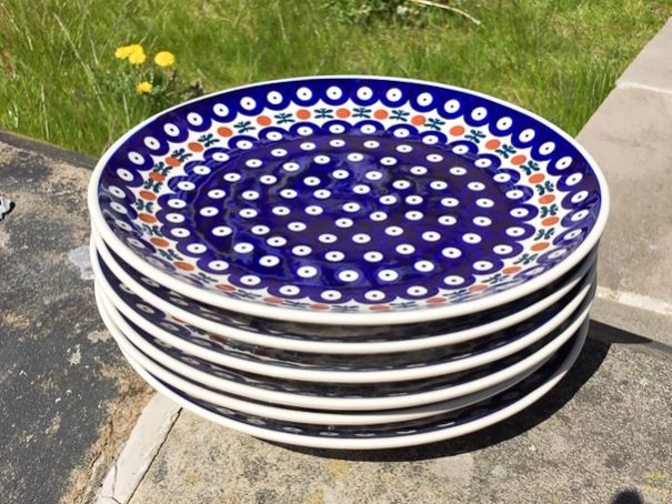 Fern Spot Plates Set of Six from Polkadot Lane UK