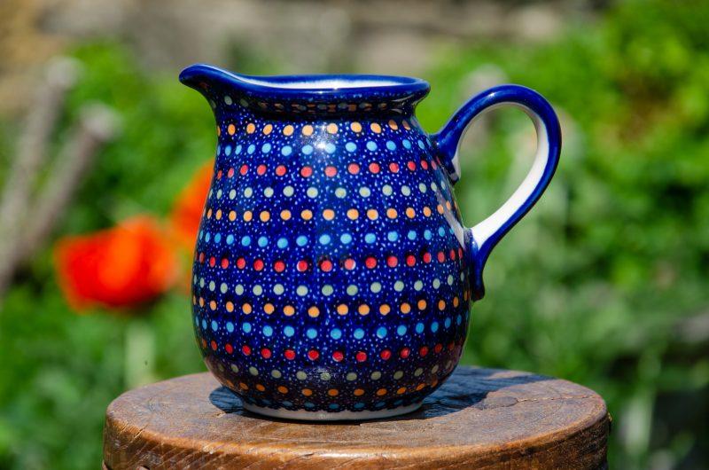 Neon Pattern Polish pottery Jug by Ceramika Manufaktura from Polkadot Lane UK