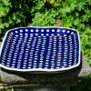 Blue Spotty Serving Plate by Ceramika Manufaktura