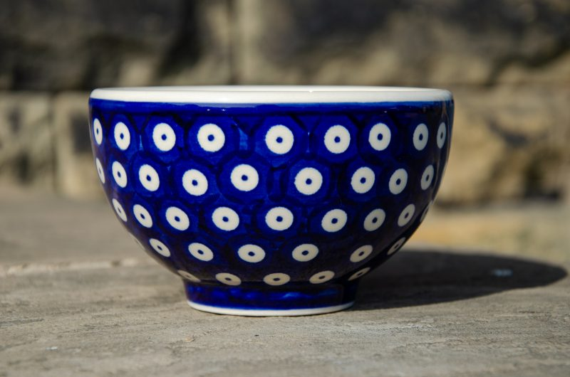 Ceramika Manufaktura Blue Spotty French Bowl