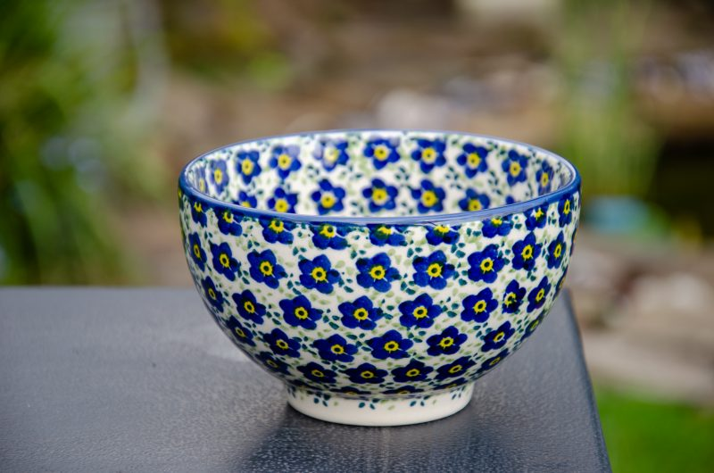 Polish Pottery French Style Bowl in Unikat design from Polkadot Lane UK