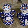 Salt Pepper Figurines Fern Spot From Ceramika Manufaktura