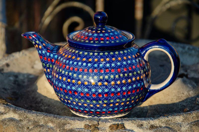Polish Pottery Neon Spot Unikat Teapot