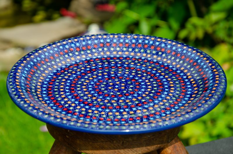 Polish Pottery Neon Pattern Dinner Plate by Ceramika Manufaktura Unikat