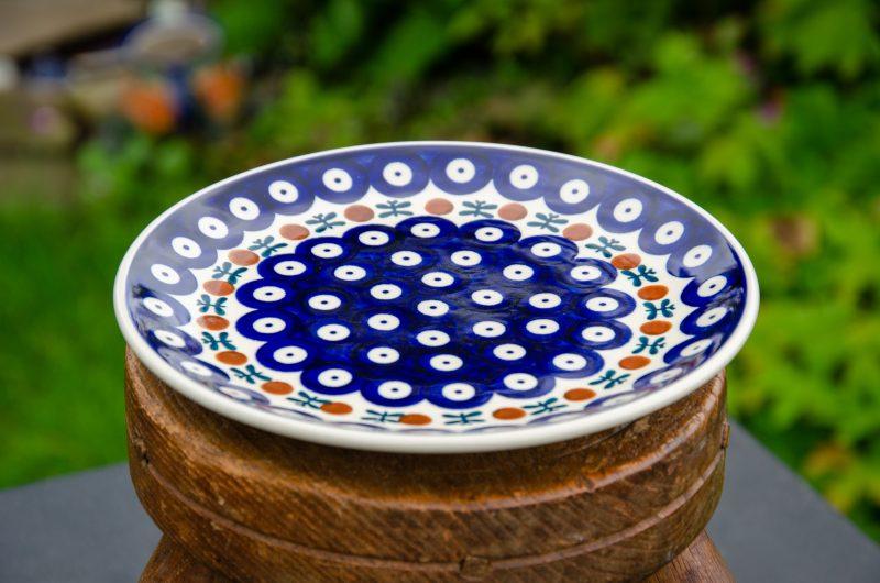 Polish Pottery Side Plate Fern Spot Design from Polkadot Lane UK