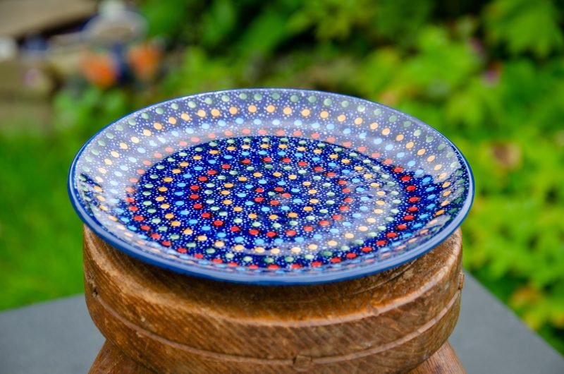 Neon Pattern Side Plate by Ceramika Manufaktura. Unikat design.