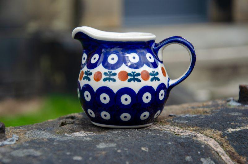 Polish Pottery Small Milk Jug Fern Spot by Ceramika Manufaktura