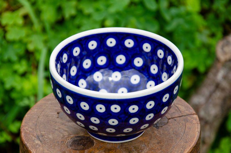 Spotty Blue French Style Bowl from Polkadot Lane UK