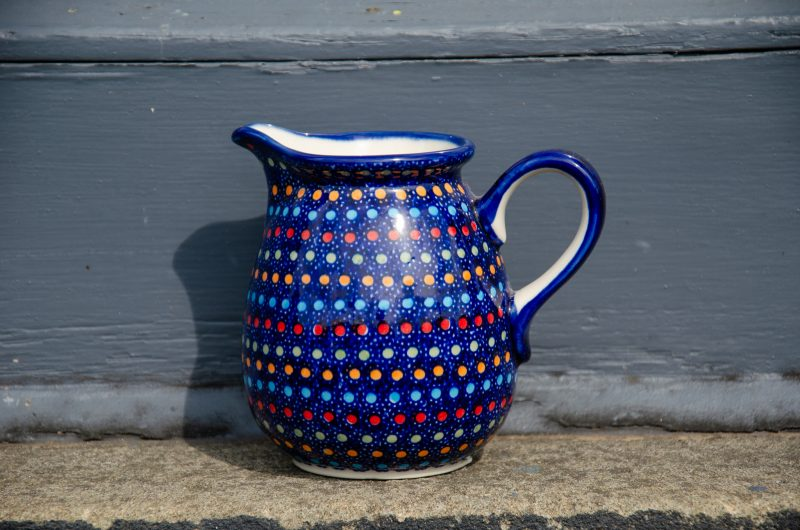 Polish Pottery Neon Pattern Small Jug Unikat