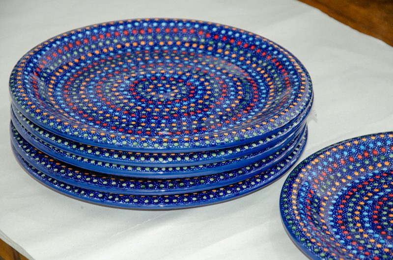 Neon Pattern Set Of 6 Dinner Plates