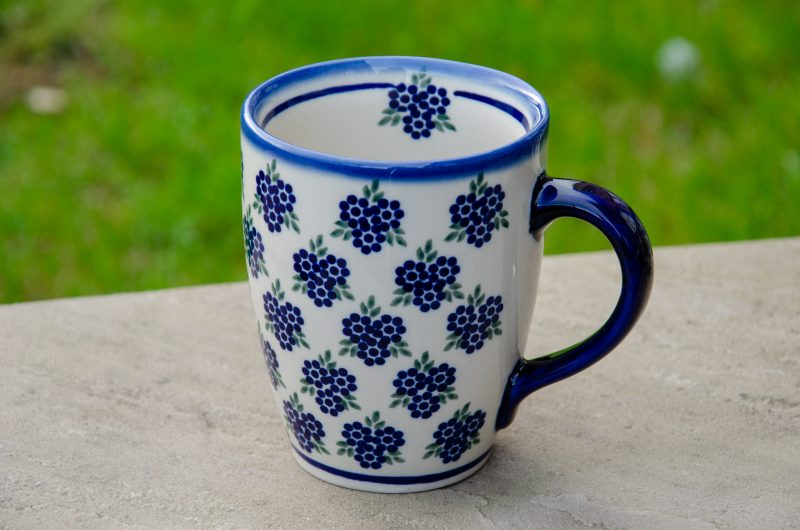 Polish Pottery Curved Shaped Mug by Ceramika Andy