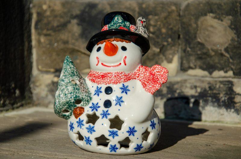 Polish Pottery Snowman by Ceramika Andy