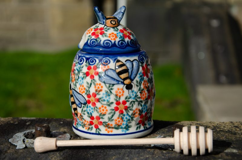Polish Pottery Honey Pot Ceramika Andy