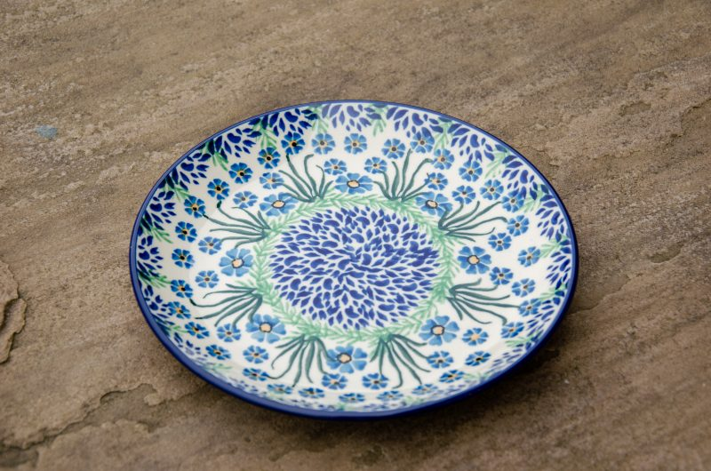 Polish Pottery Forget Me Not Side Plate by ceramica Artystyczna