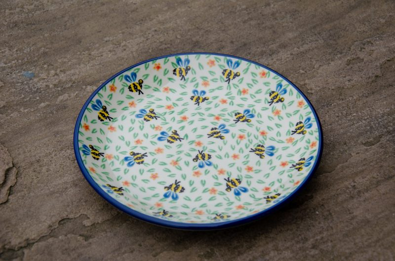 Polish Pottery Bee Pattern Side Plate