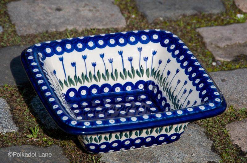 Serving Dish Flower Spotty Pattern by Ceramika Artystyczna