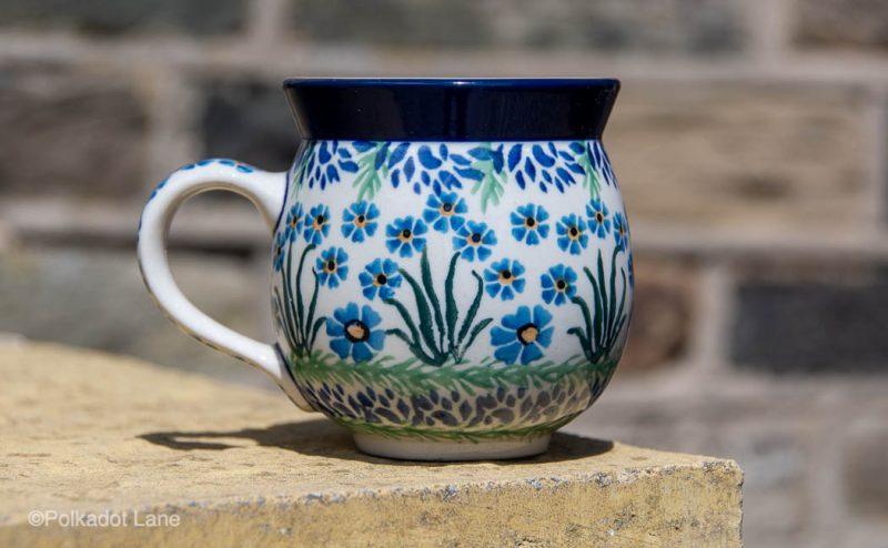 Forget Me Not Medium Mug by Ceramika Artystyczna
