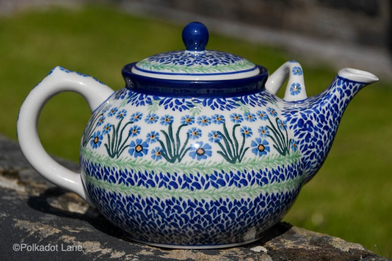 Forget Me Not Large Teapot by Ceramika Artystyczna