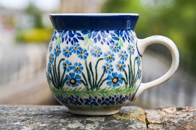 Forget Me Not Mug by Ceramika Artystyczna Polish Pottery from Polkadot Lane UK