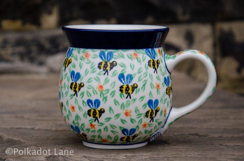 Bee Pattern Large Mug by Ceramika Artystyczna Polish Pottery