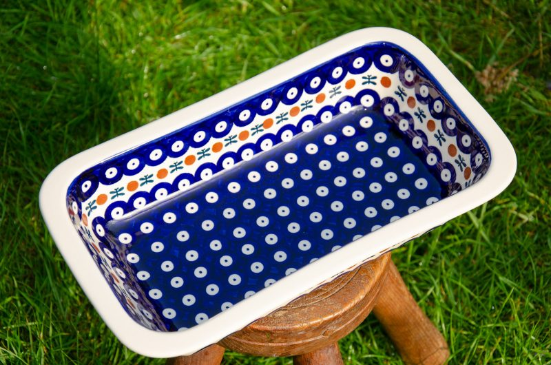 Polish Pottery Fern Spot Pie Dish by Ceramika Manufaktura